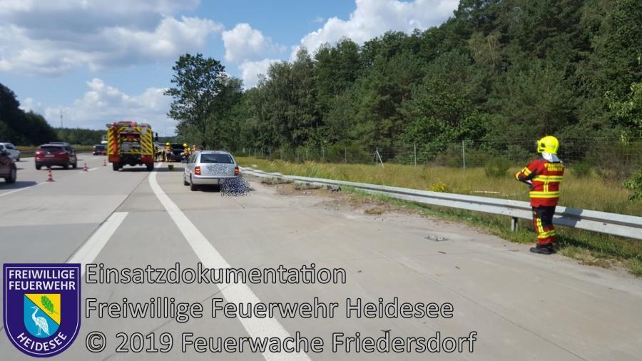Einsatz 123/2019 | VU 3x PKW | BAB 10 AD Spreeau - AS Niederlehme | 14.08.2019
