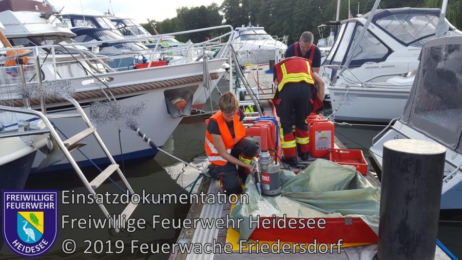 Einsatz 124/2019 | Boot droht zu sinken | Blossin Waldweg | 14.08.2019