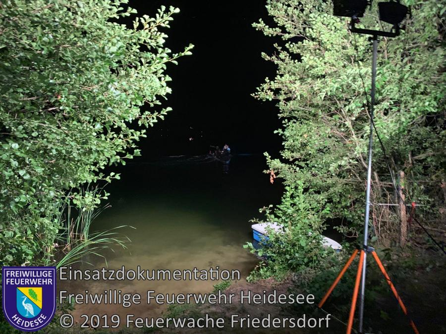 Einsatz 128/2019 | Personensuche | Prieros Ziestsee | 24.08.2019