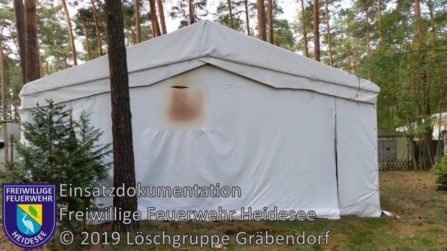 Einsatz 129/2019 | Brennender Stromkasten | Gräbendorf Zum Hölzernen See | 25.08.2019