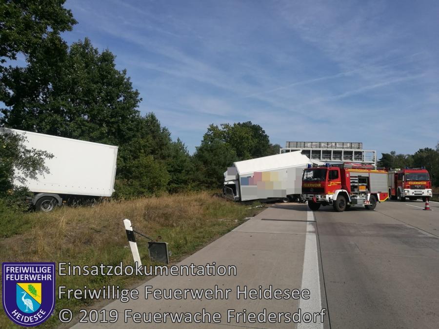 Einsatz 144/2019 | VU 3x LKW | BAB 10 AD Spreeau - AS Niederlehme | 23.09.2019