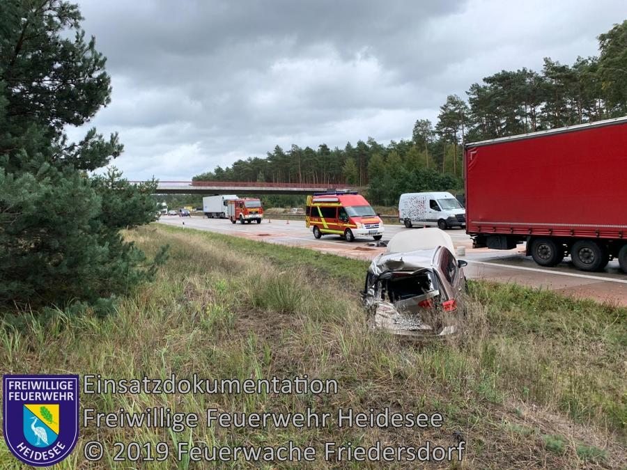 Einsatz 152/2019 | VU 3x LKW 1x PKW | BAB 10 AD Spreeau - AS Niederlehme | 30.09.2019