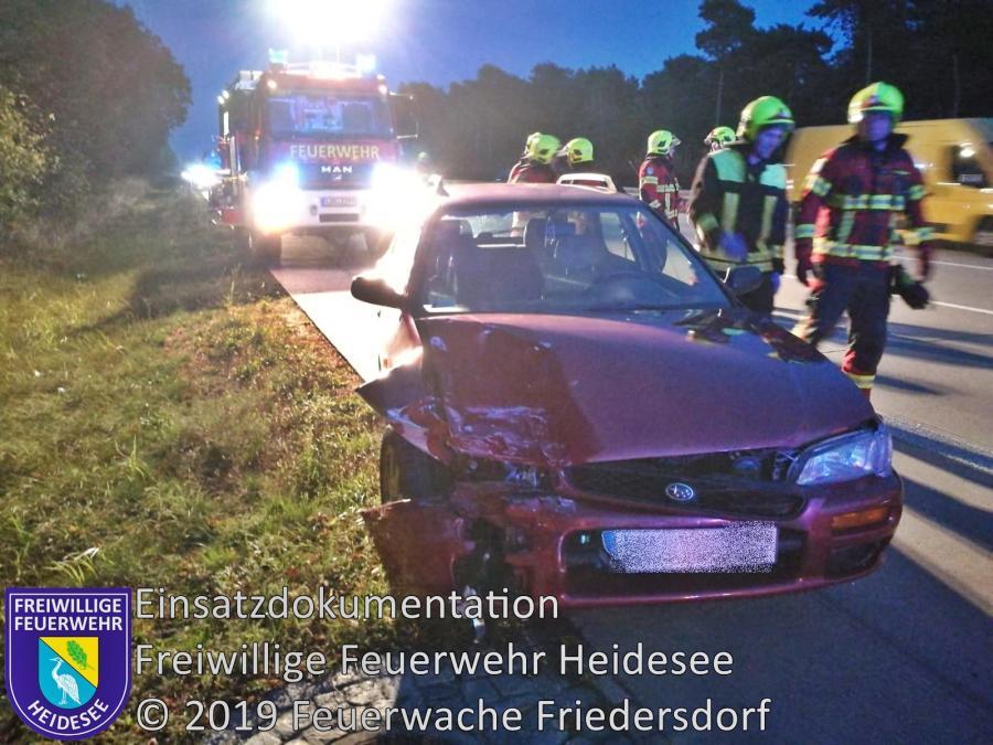Einsatz 156/2019 | VU 2x PKW | BAB 10 AD Spreeau - AS Niederlehme | 07.10.2019