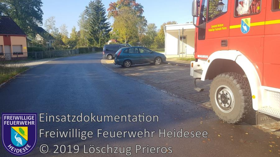 Einsatz 158/2019 | 300m lange Dieselspur | Prieros Poststraße | 09.10.2019