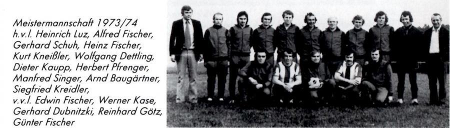 Mannschaft 1974