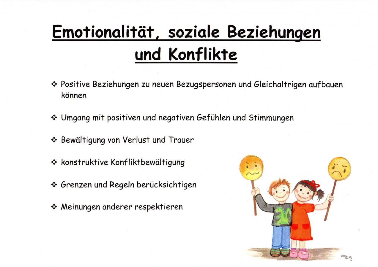 Emotionalität, soziale Bezihungen und Konflikte