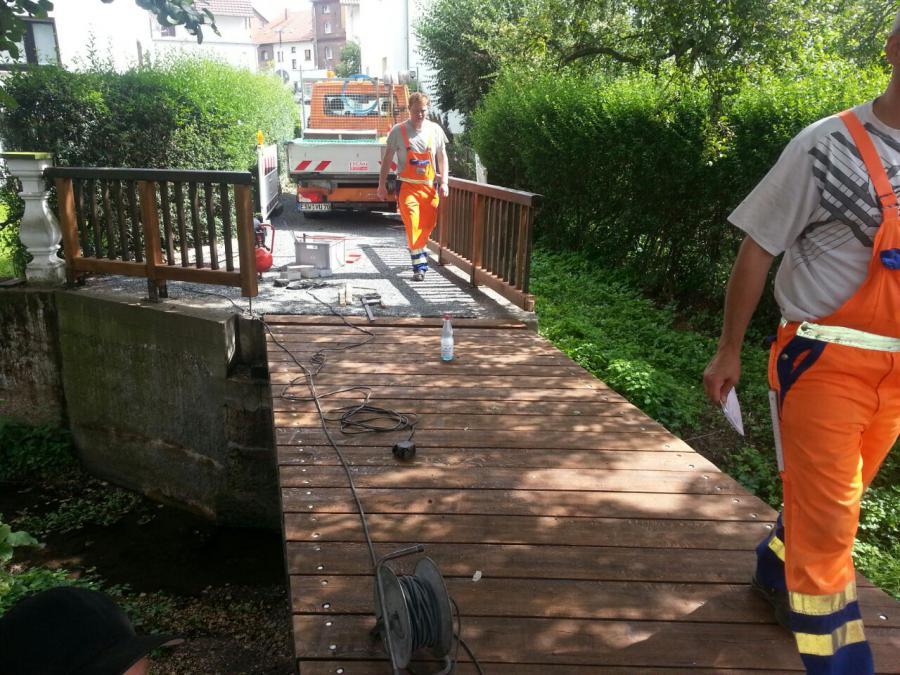 Sanierung Fußgängerbrücke in Niederhone