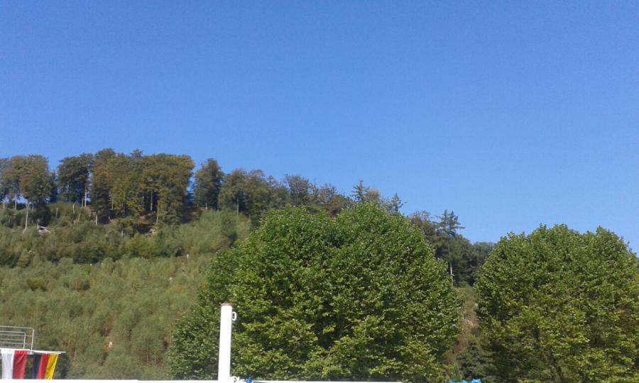 Sonnenschein und blauer Himmel