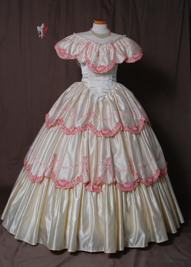 Krinolinen Kleid Ballkleid