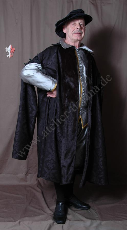 Mantel mit Schleppärmeln