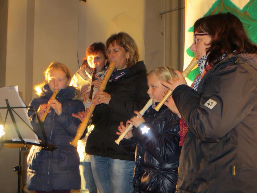 Unsere Flötengruppe zum Martinstag