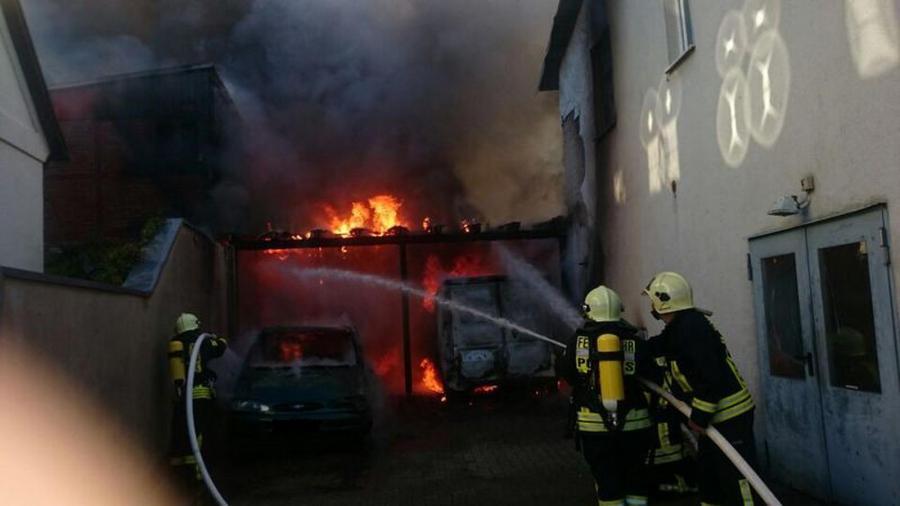 Gebäudebrand Putbus