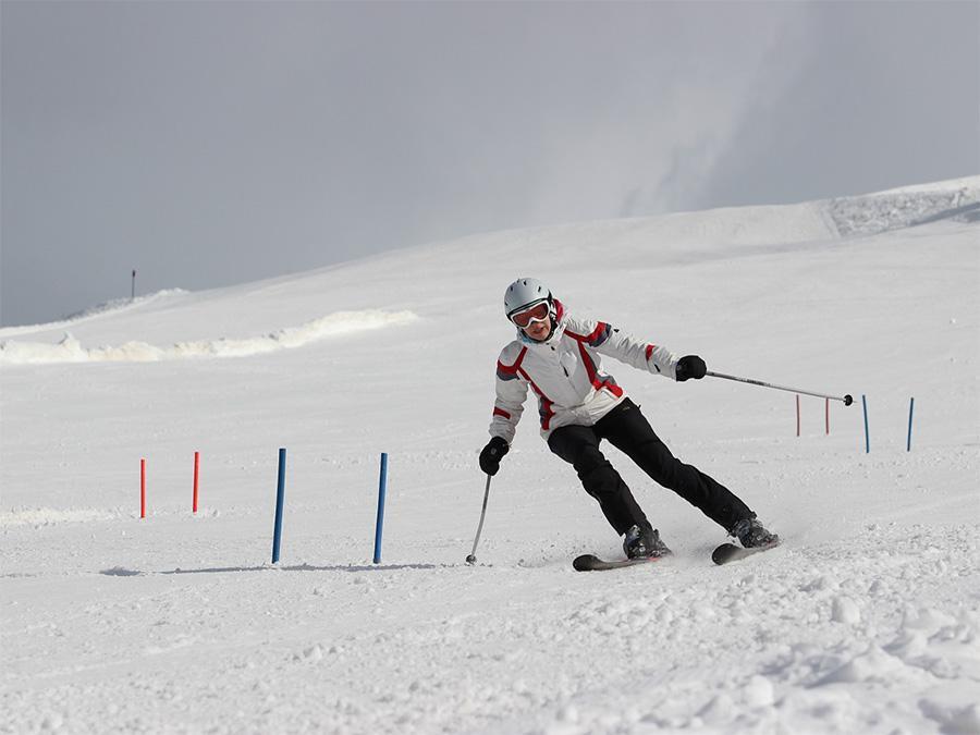 Abfahrtslauf beim Ski-Camp der Oberlausitzer Sportjugend