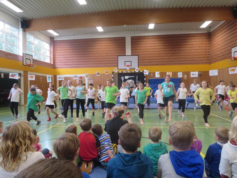 Sportaufführung Klasse 4