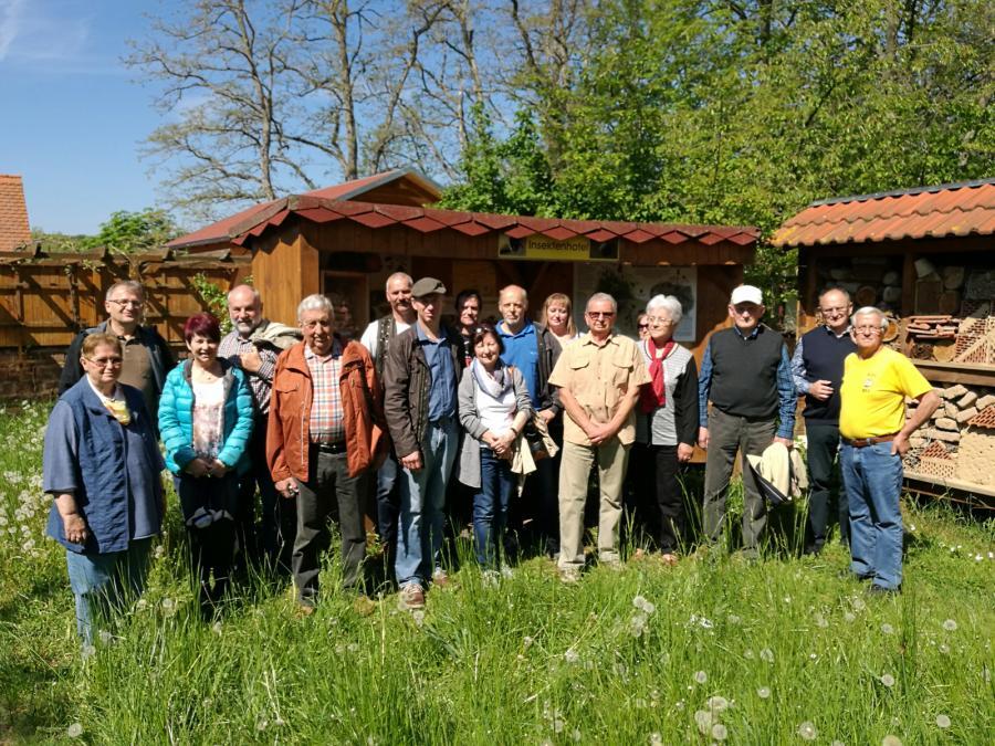 Vereinsfahrt 13.05.2017 Bienenlehrgarten Nebra