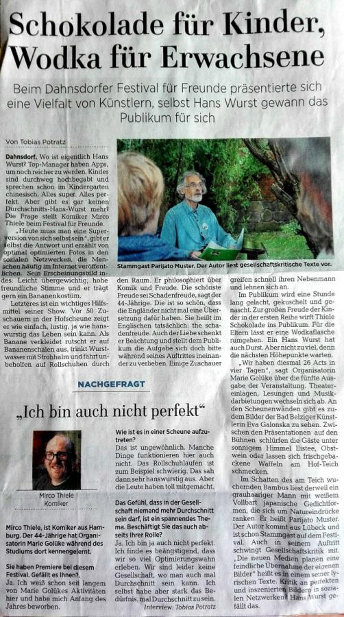Märkische Allgemeine, 07. August 2017