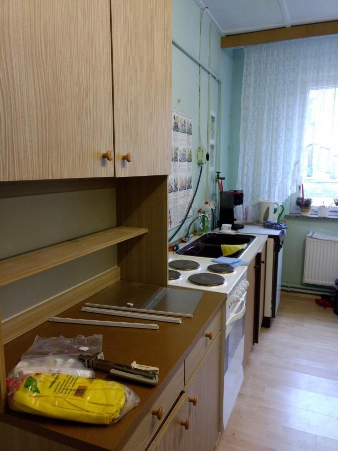 unsere kleine Küche vor dem Umbau