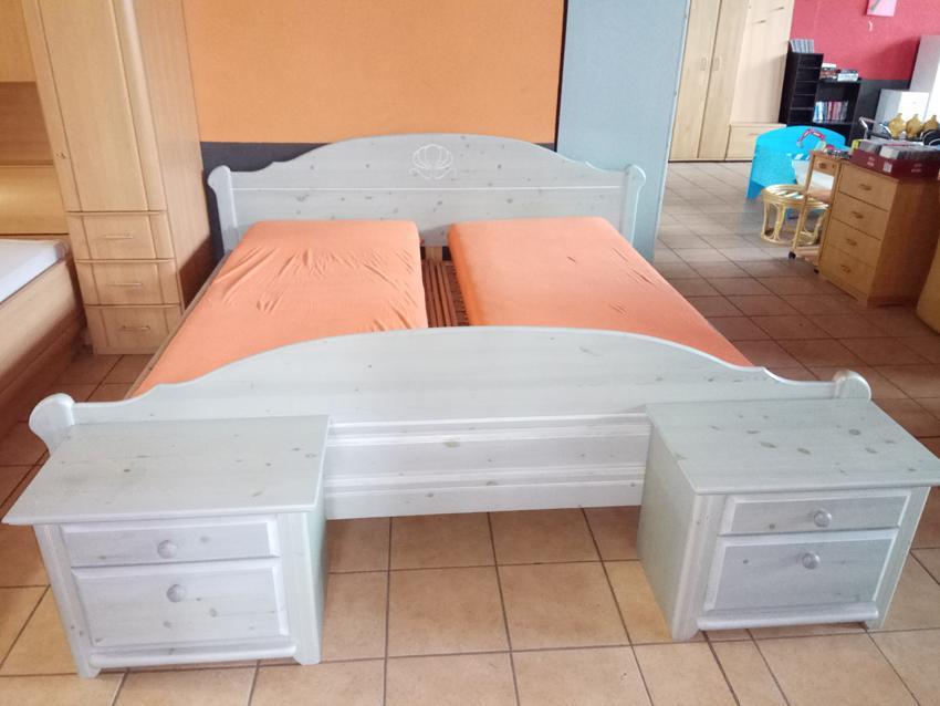 Doppelbett echt Holz