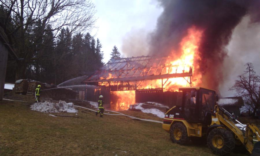Brandeinsatz Kirchberg 1