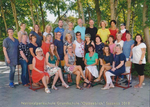 Lehrer und Mitarbeiter der Grundschule Ostseeblick