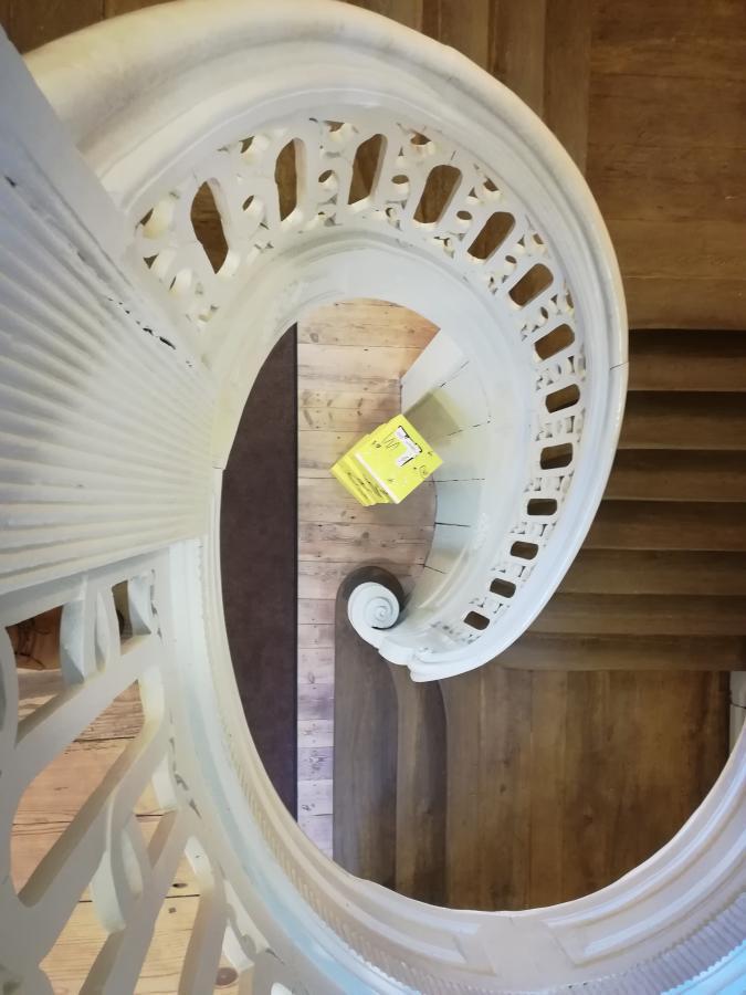 historisches Treppenhaus im Museum Neuruppin, Foto: A.L. Kynast