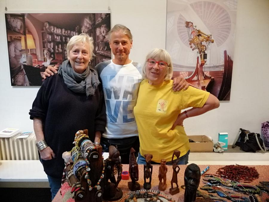 Heinke, Philippe und Dagmar in der Brotfabrik, 2019