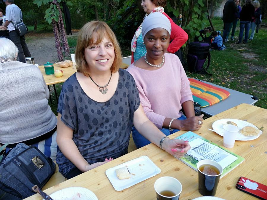 Barbara und Keila beim Helferfest 2019