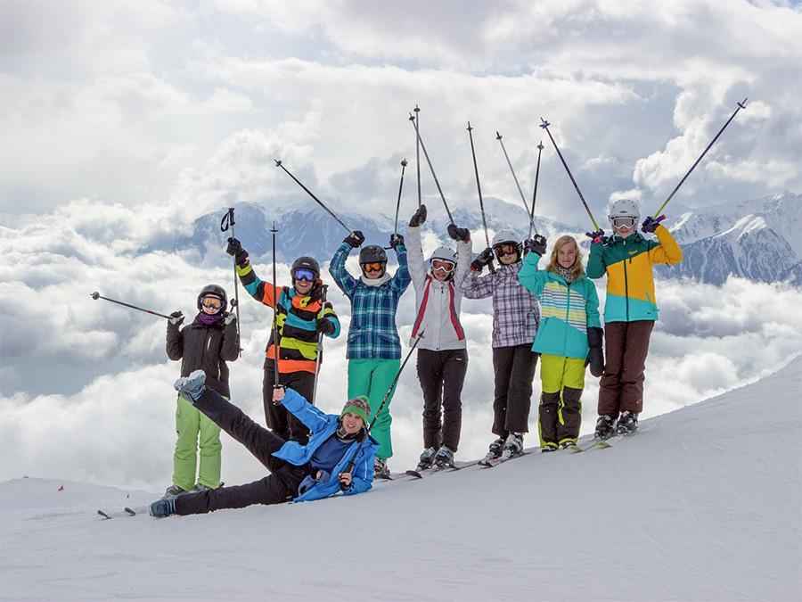 Gipfelbild beim Ski-Camp der Oberlausitzer Sportjugend