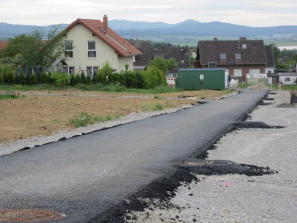 """Foto: Der 3. Abschnitt des Neubaugebietes """"Frettholz"""" wird erschlossen"""