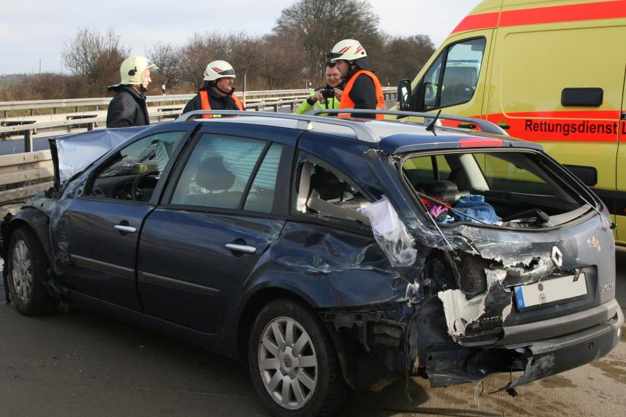 Verkehrsunfall auf der BAB 11