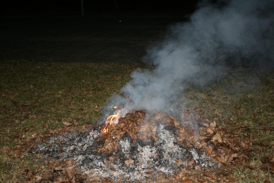 Laubhaufenbrand