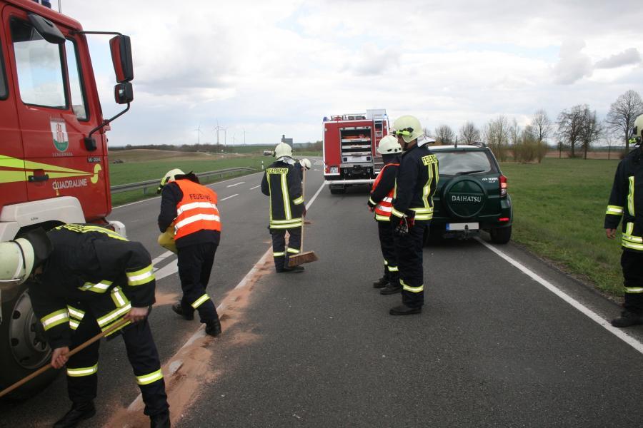 Verkehrsunfall auf der B166