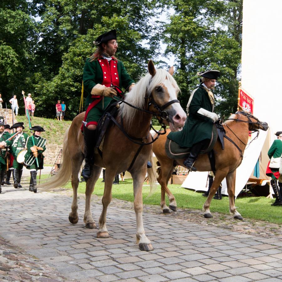 Festungsspektakel_Reiter_ Foto Museum OSL