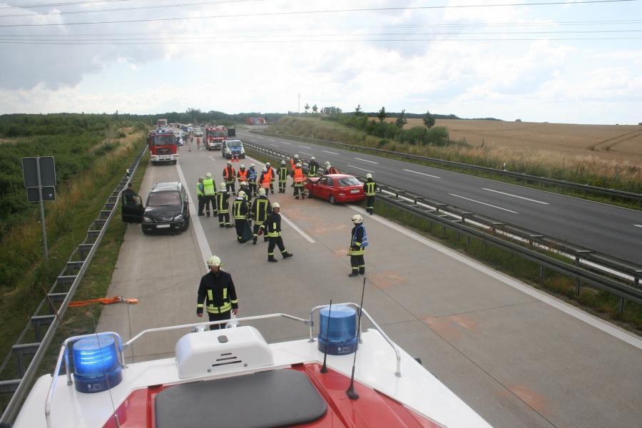 Verkehrsunfall auf der BAB 11 höhe Warnitz