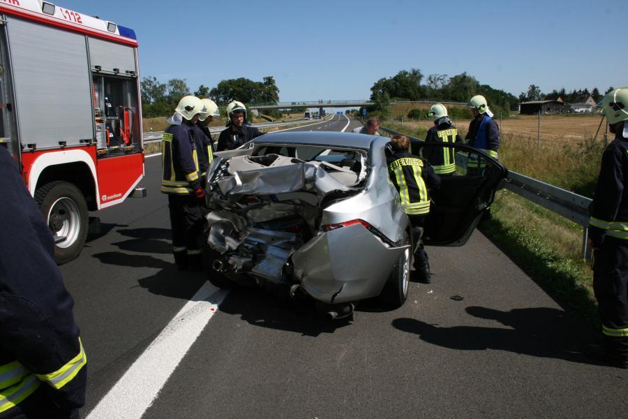 Verkehrsunfall auf der BAB 11 zwischen AS Gramzow und AD Kreuz UM
