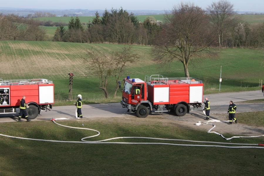 Waldbrandübung in Melzow