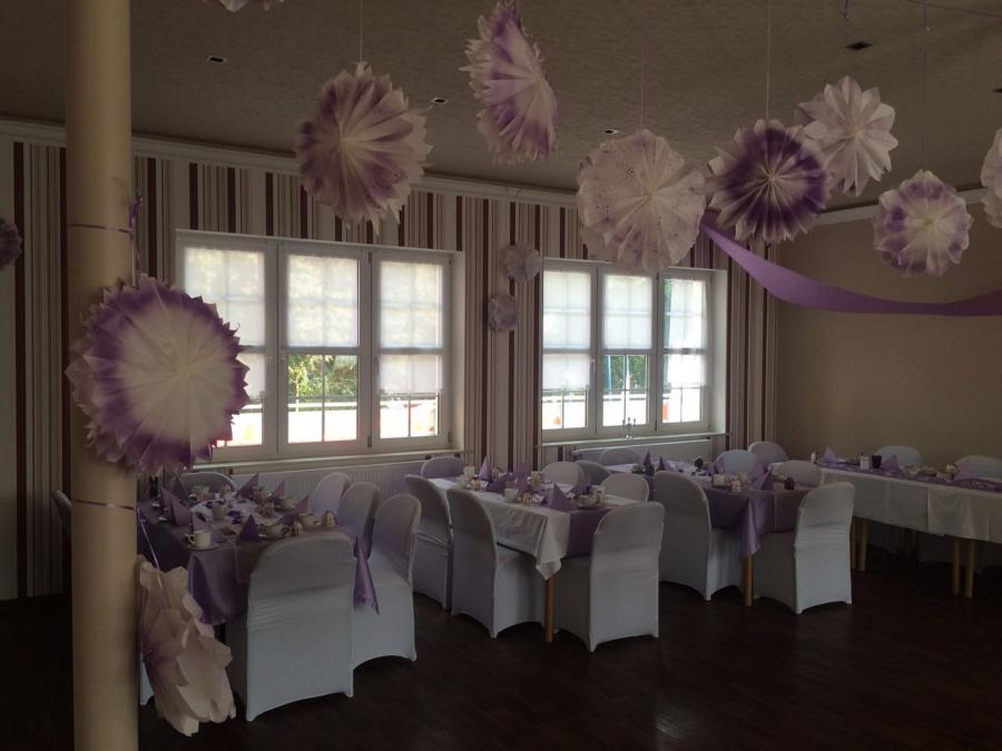 Saal geschmückt (Bild von privat)