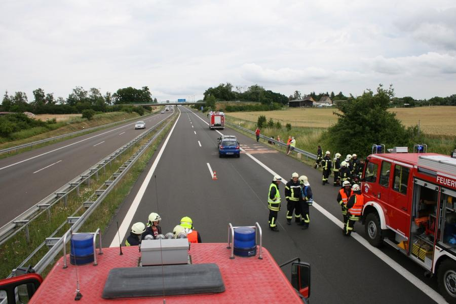 Verkehrsunfall auf der BAB11