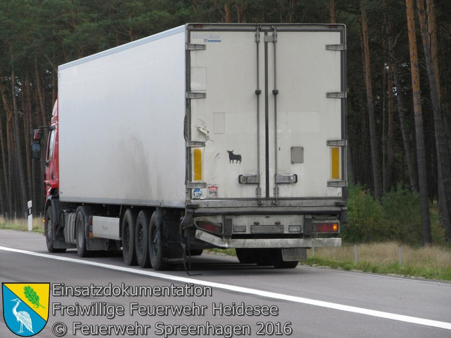 Einsatz 96/2016 | Kleintransporter auf LKW | BAB 12 Ri. Polen 20.09.2016