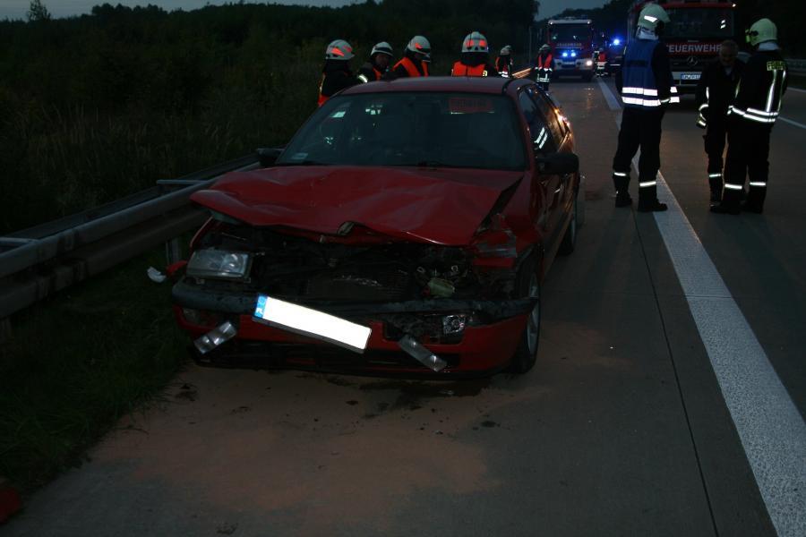 Verkehrsunfall PKW vs. LKW auf der BAB11