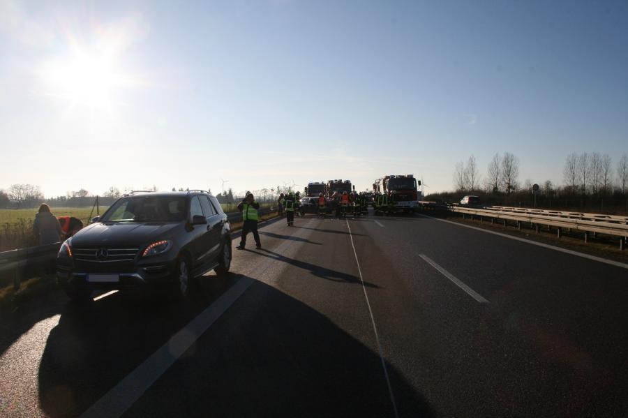 Auffahrunfall auf der Autobahn 11