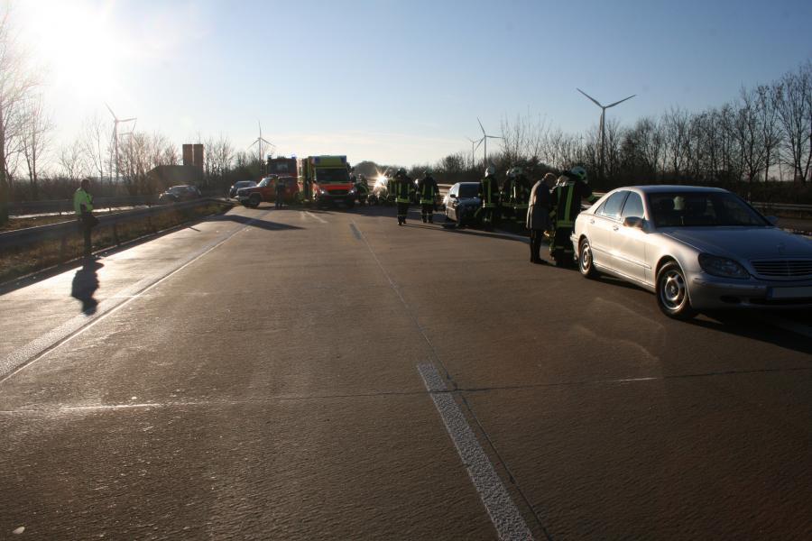 Auffahrunfall auf der Bundesautobahn 11