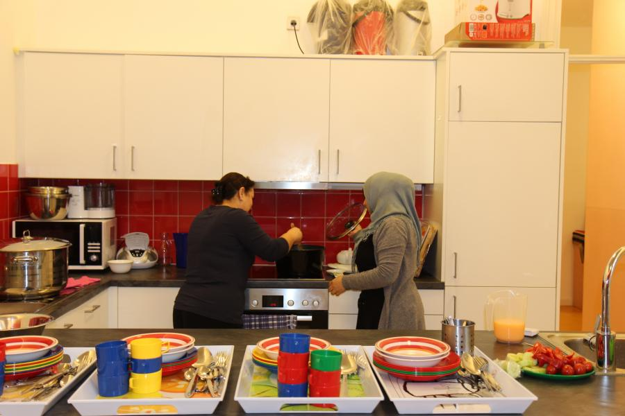 Die Köchinnen der Kita EVÎN