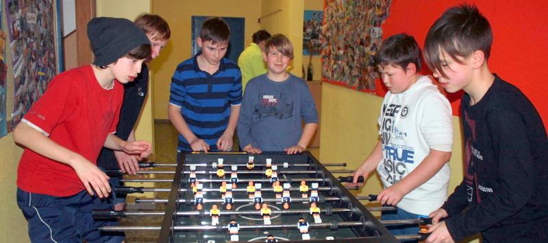 Kickern im Jugendhaus Greußen