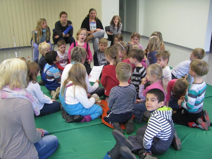 Die Kitas in unserer Schule am Vorlesetag