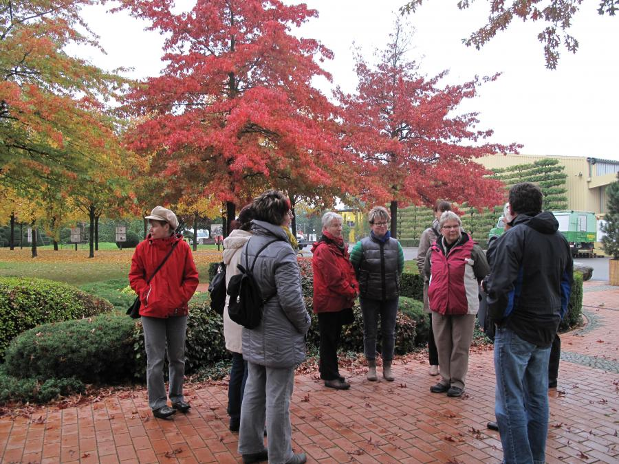 Begrüßung auf der Baumschule bei herrlichem Herbstwetter