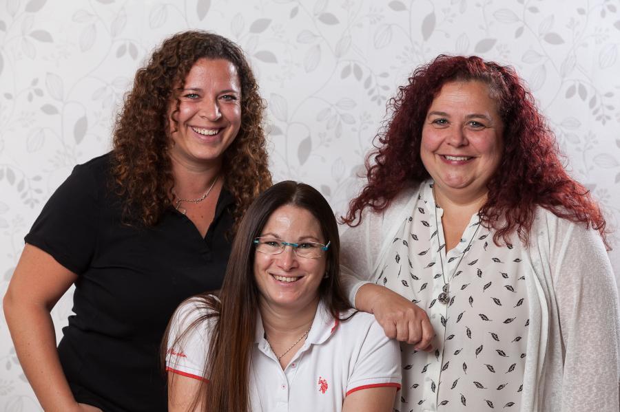 v.l.: Natalia Stelle, Andrea Barthel (Gruppenleitung) und Petra Ehlenberger.