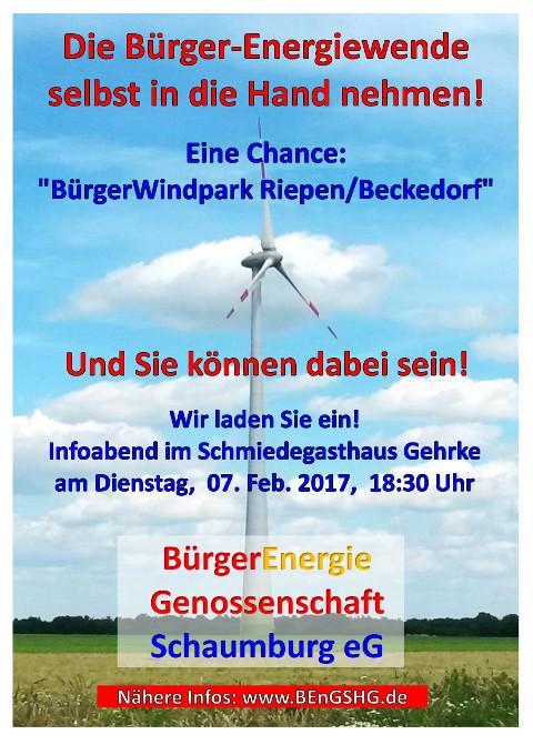 BEnGSHG Infoabend  zum Windpark
