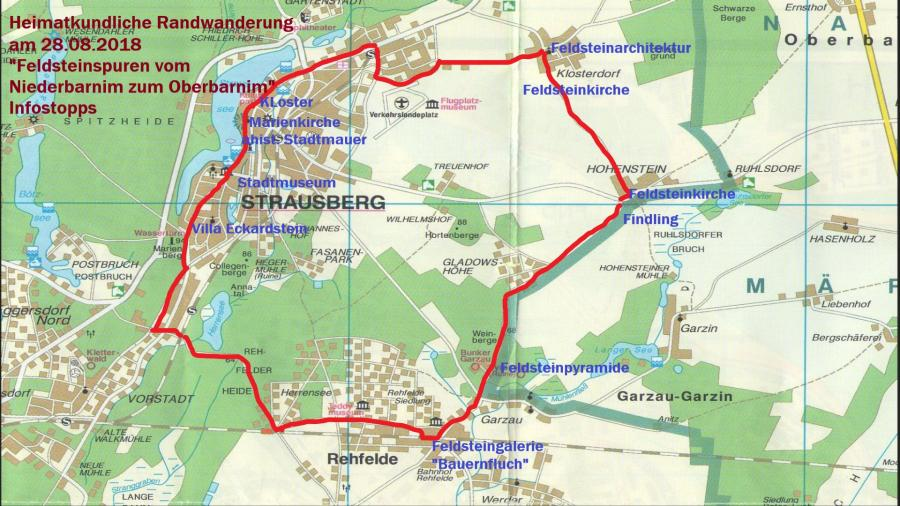 Karte mit Infostopps
