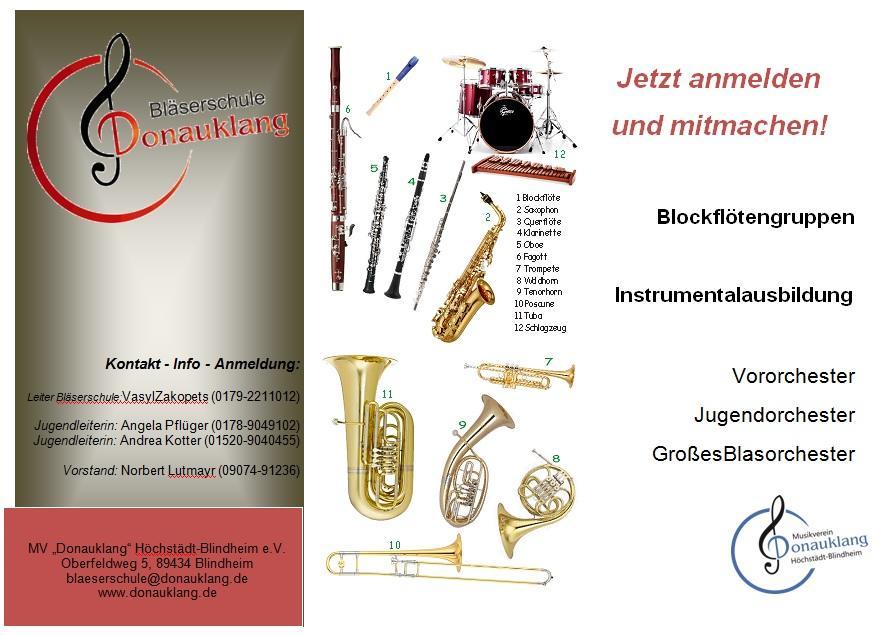 Info Bläserschule 2016
